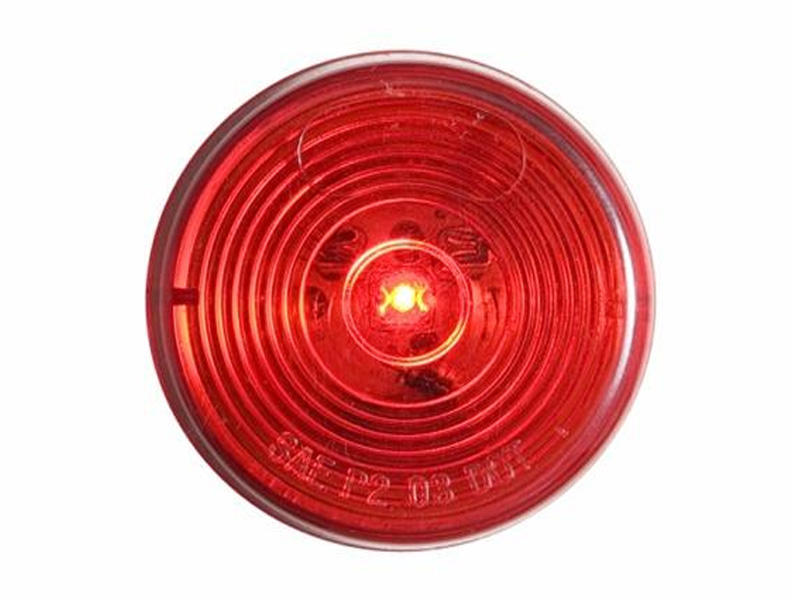 "2"" Round Sealed LED Marker/Clearance Light- Red"