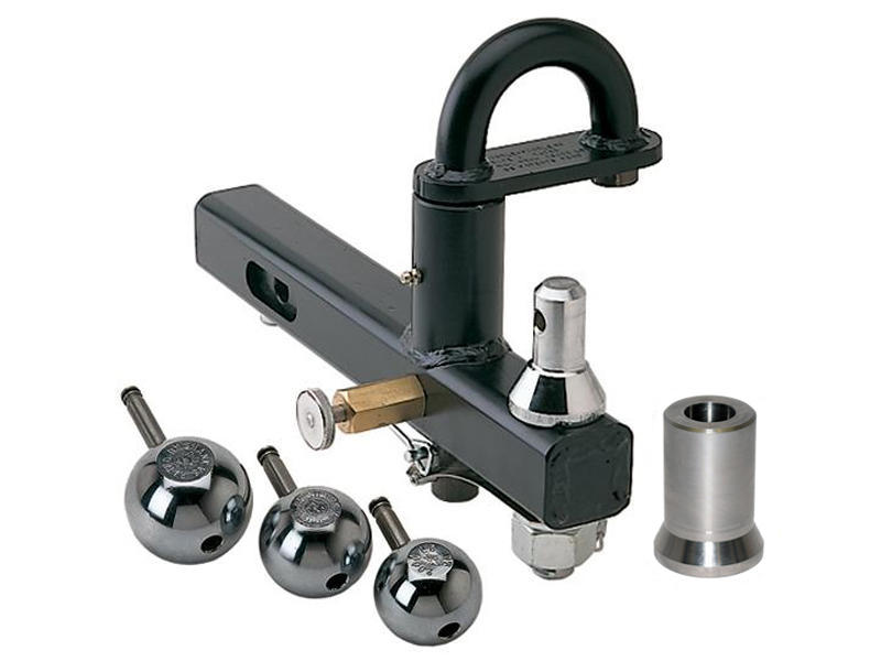Cushioned Pintle Hook with Interchangeable Stainless Steel Balls