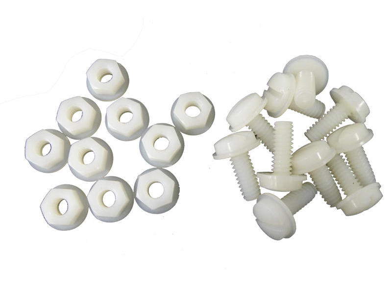 Plastic License Plate Nuts & Bolts