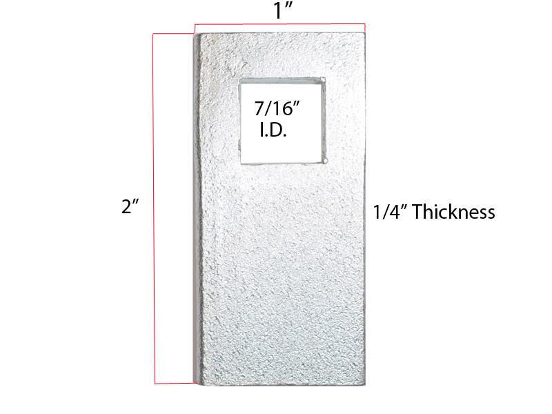Block Plate Spacers - 6 pack