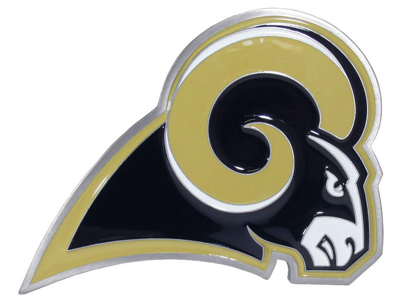 Los Angeles Rams Large Hitch Cover - Fits Class II 1-1/4 Inch and Class III/IV 2 Inch Receivers
