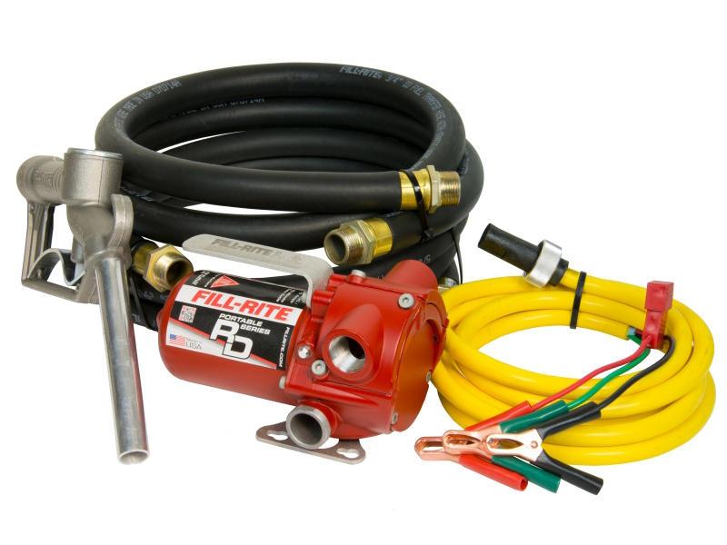 12V DC Portable Fuel Pump With Hose & Nozzle - Model RD12
