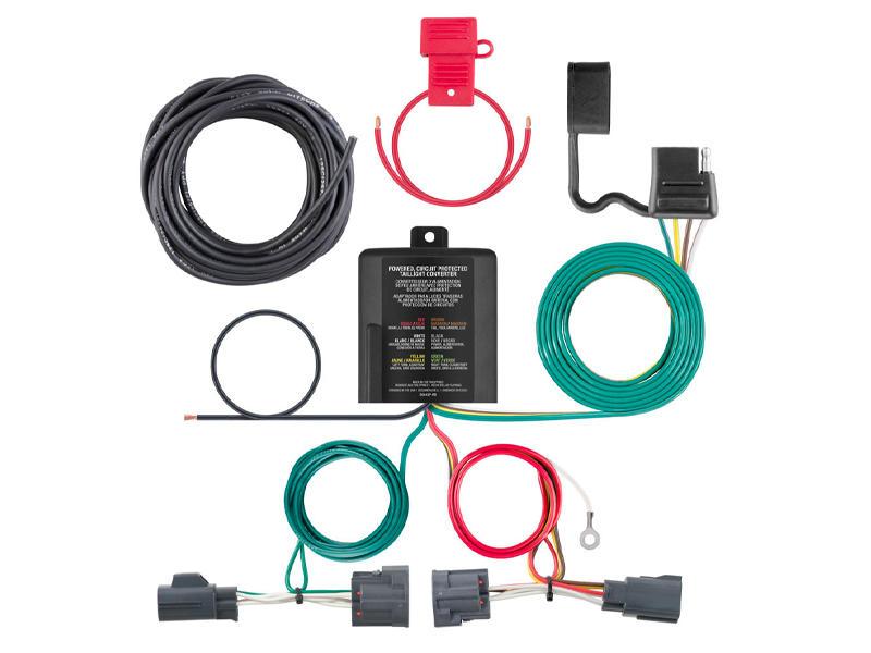 Rigid T-Connector Custom Wiring Harness, 4-Way Flat Output, Select Dodge Nitro, Jeep Liberty