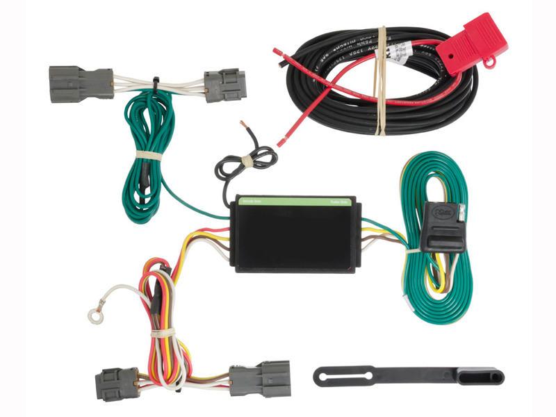Rigid T-Connector Custom Wiring, 4-Way Flat Output, Select Kia Borrego, Hyundai Santa Fe, Sport