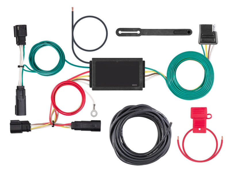 Rigid T-Connector Custom Wiring Harness, 4-Way Flat Output, 2017-2018 Ford Escape