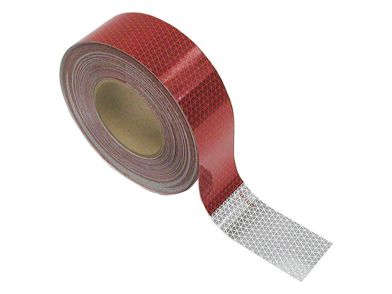 Conspicuity Reflective Red and White Tape