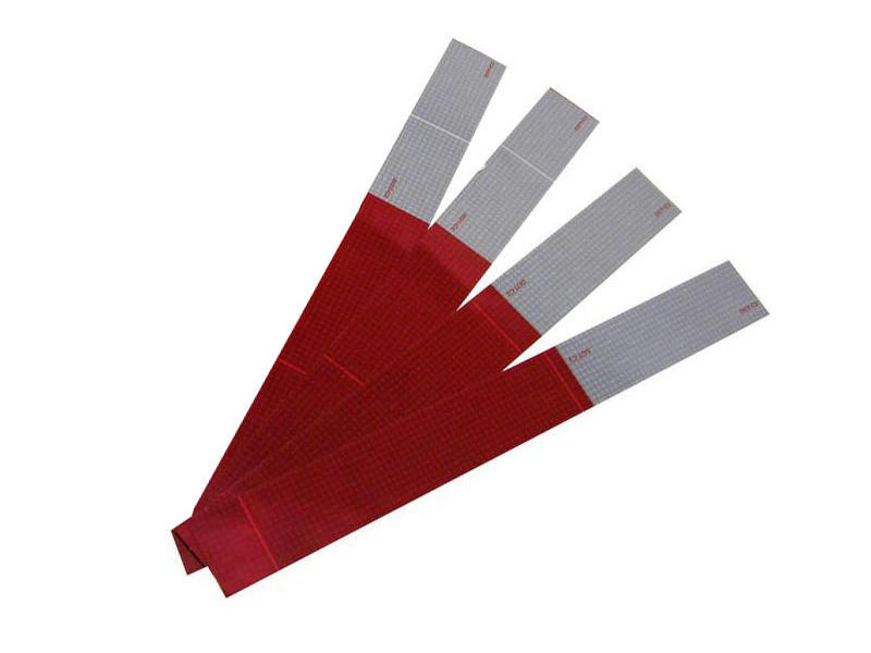 Conspicuity Reflective Red and White Tape Strips