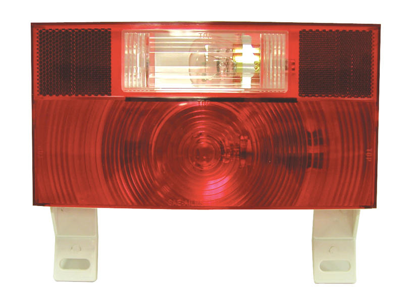 Peterson RV Stop/Turn/Tail Light with License Plate Bracket and Back-Up Light