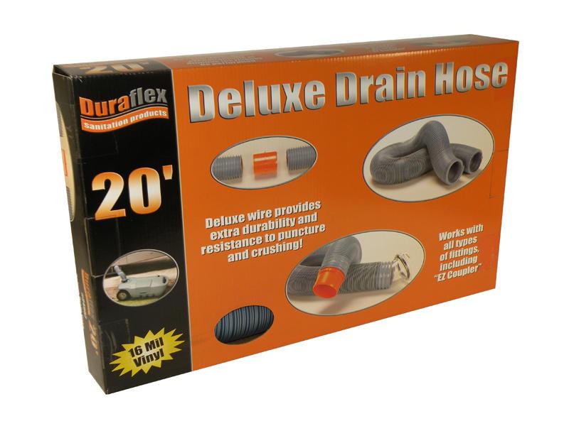 Duraflex Drain Hose - Deluxe H.D - 20 Feet - Boxed