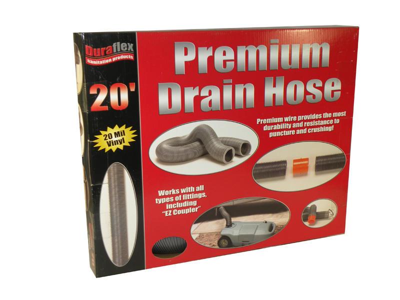 Duraflex Drain Hose - Premium H.D - 20 Feet - Boxed