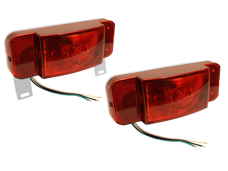 Optronics One™ LED Low Profile Combination RV Tail Lights - Pair - White Base