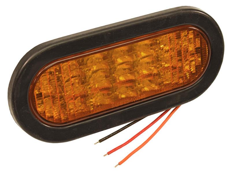 6 Inch Oval L.E.D. Recessed Strobe Light