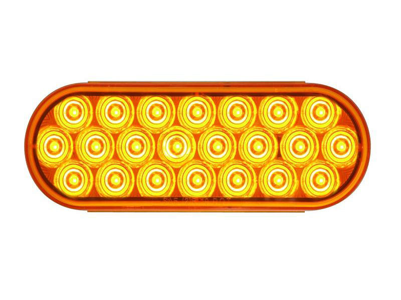 "6"" Oval Sealed LED Warning Lamp"
