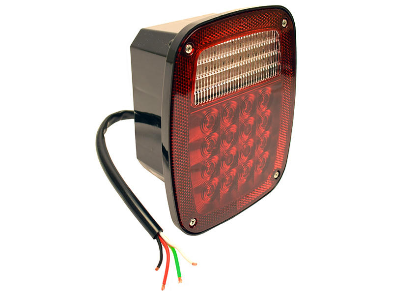 Square LED Combination Tail Light- Right