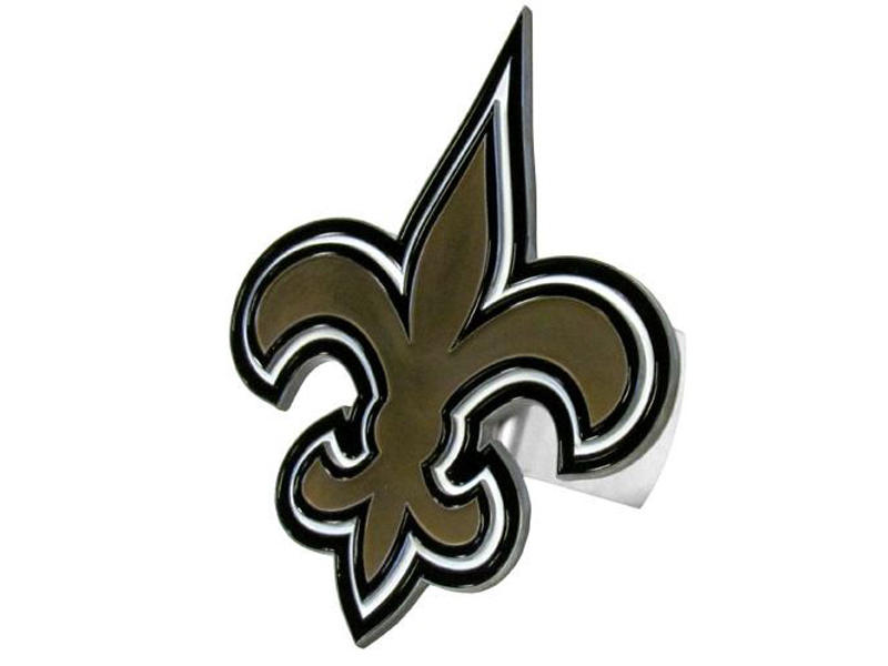 New Orleans Saints Large Hitch Cover - Fits Class II 1-1/4 Inch and Class III/IV 2 Inch Receivers