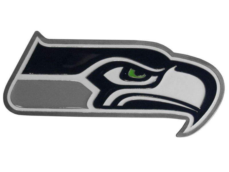 Seattle Seahawks Large Hitch Cover - Fits Class II 1-1/4 Inch and Class III/IV 2 Inch Receivers