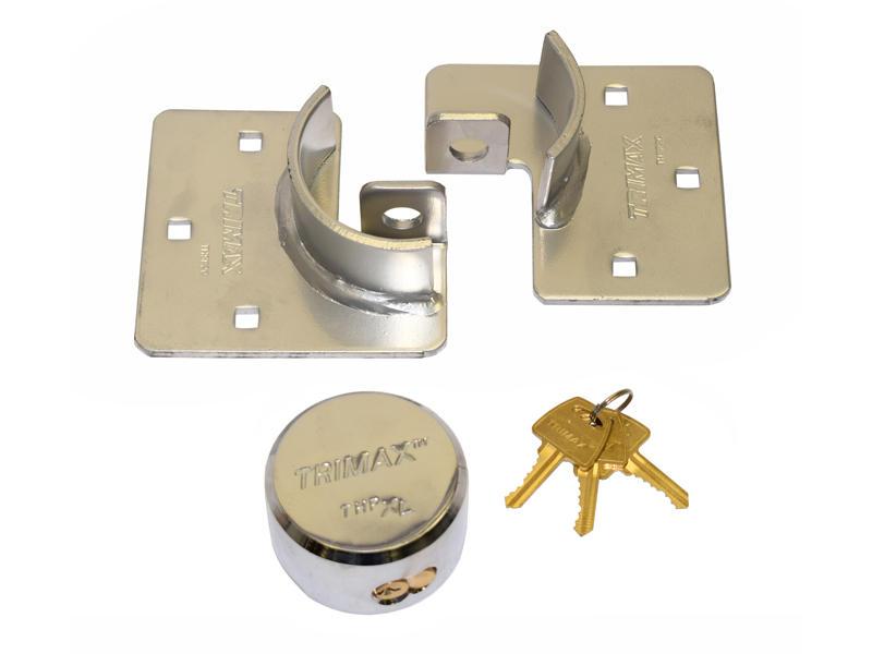 Hockey Puck Internal Shackle Trailer Door Lock With Hasp