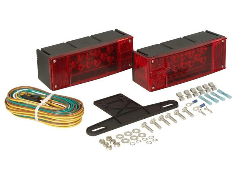 LED Trailer Tail Lights & Wiring Kit - Over 80 Wide