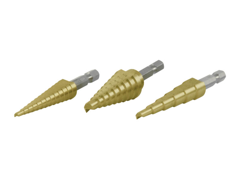 3 Piece Step Drill Set