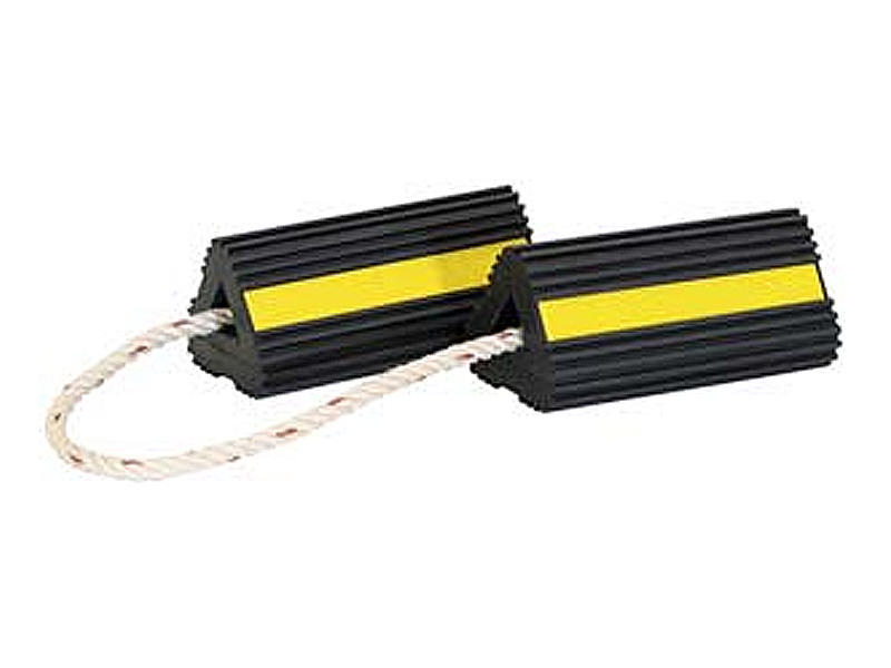 Rubber Wheel Chock Pair with Rope