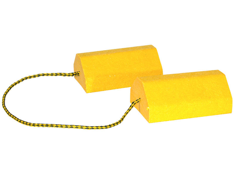 Yellow Composite Wheel Chock Set with Rope