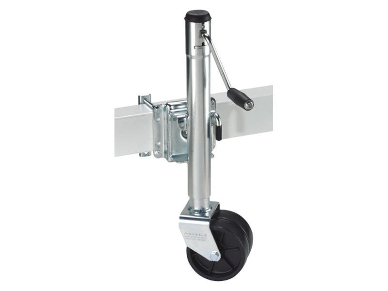 Swivel Trailer Jack with Dual Wheels