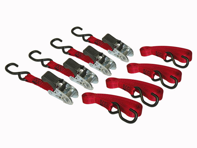 "Ratchet Tie-Down Strap 1"" X 15 Feet - 4-Pack"