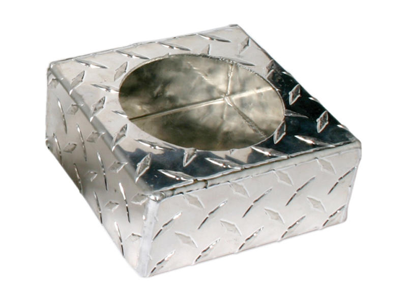Aluminum Diamond Plate- Single Light Mounting Box