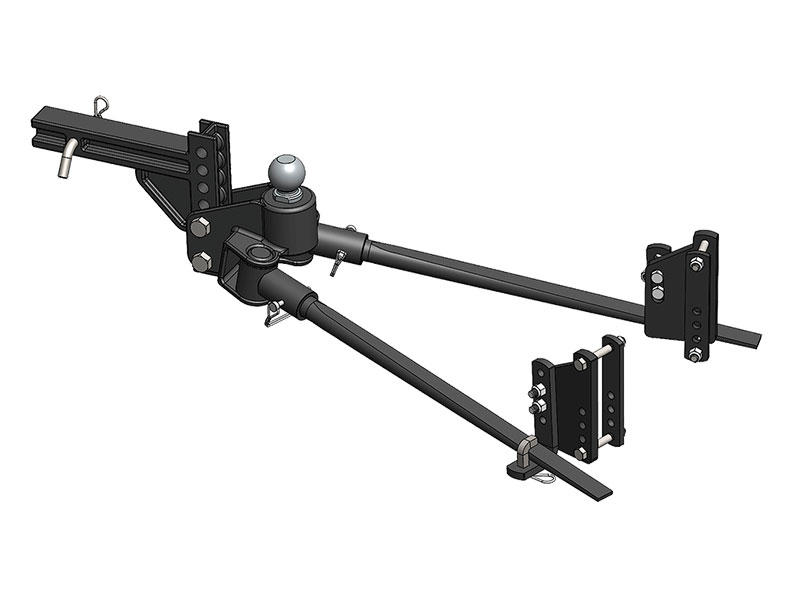 1,000 TW 10,000 GTW Blue Ox BXW1050 TrackPro Weight Distribution Hitch