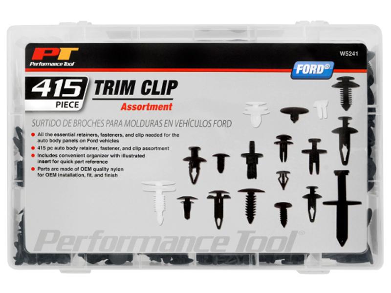 415pc Ford Trim Clip Assortment