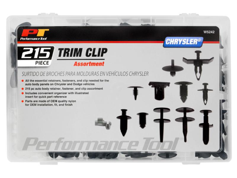 215pc Chrysler Trim Clip Assortment